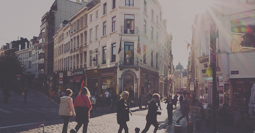 Brussels Street Scene   Matthias Ripp/Flickr