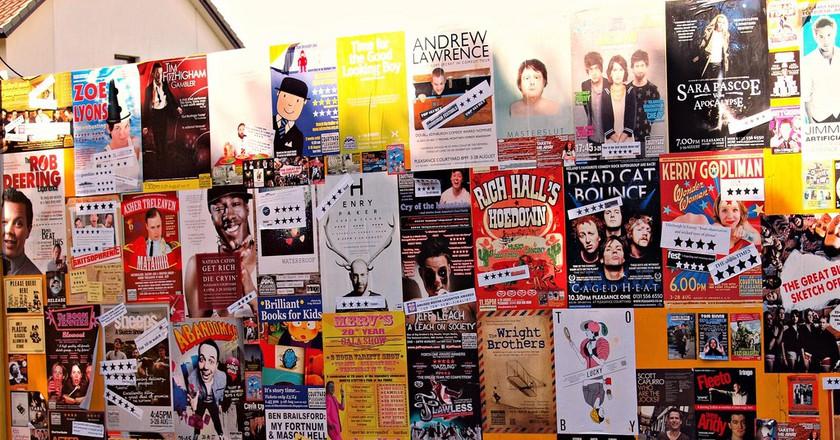 Posters For The Edinburgh Festival Fringe   © ZoeTNet/Flickr