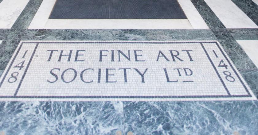 Entrance to The Fine Art Society | Courtesy of The Fine Art Society