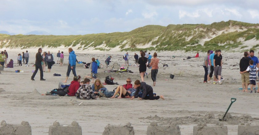 The Sandcastle Competition during Berneray Week | © Colin Smith / Geograph