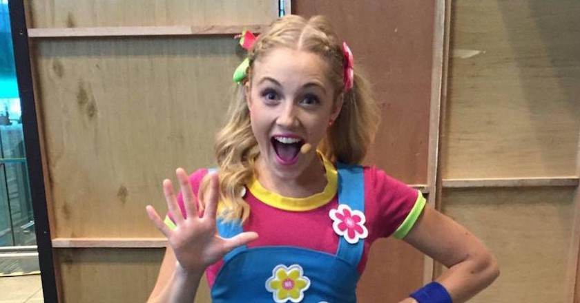 Jessica Redmayne performing for the first time as a Hi-5 member in Singapore.   Courtesy of Jessica Redmayne