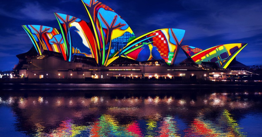 Songlines - render impression by Artists in Motion inspired by Artist Karla Dickens | Courtesy of Vivid Sydney