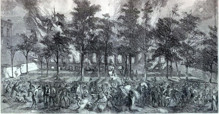 New York Draft Riots Harpers colored asylum | © Harper's Weekly/WikiCommons