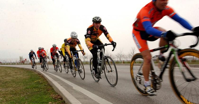 Cyclists © Airman Nathan Doza/Wikipedia