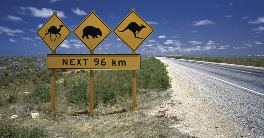 Road Sign, WA | Courtesy of Tourism Australia © Nick Rains