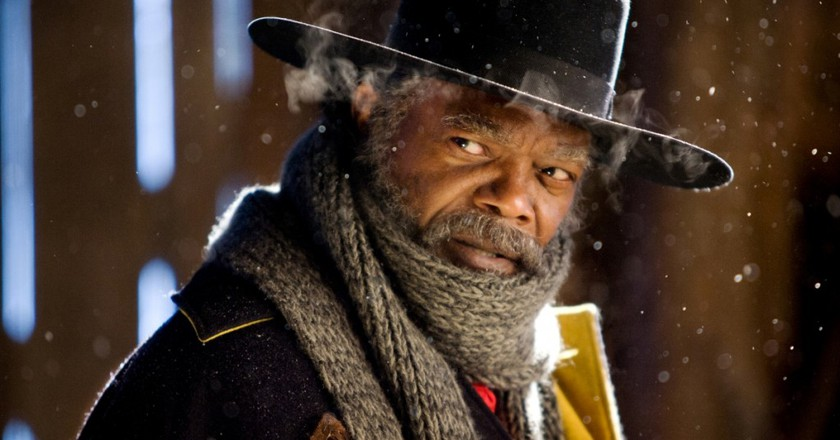 """Samuel L. Jackson in Quentin Taratino's THE HATEFUL EIGHT (2015), which screens as part of """"See It Big! The 70mm Show"""" Credit: The Weinstein Company"""