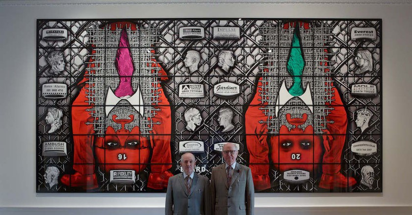 Gilbert and George in The Royal Academy  © Stephen White
