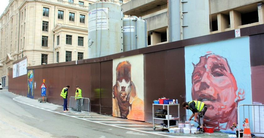 The Mont des Arts is temporarily being taken over by forty talented street artists | © Anne Boyle
