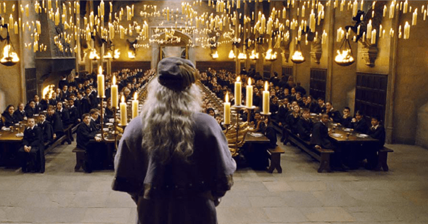 Dumbledore in the Great Hall | © Warner Bros.