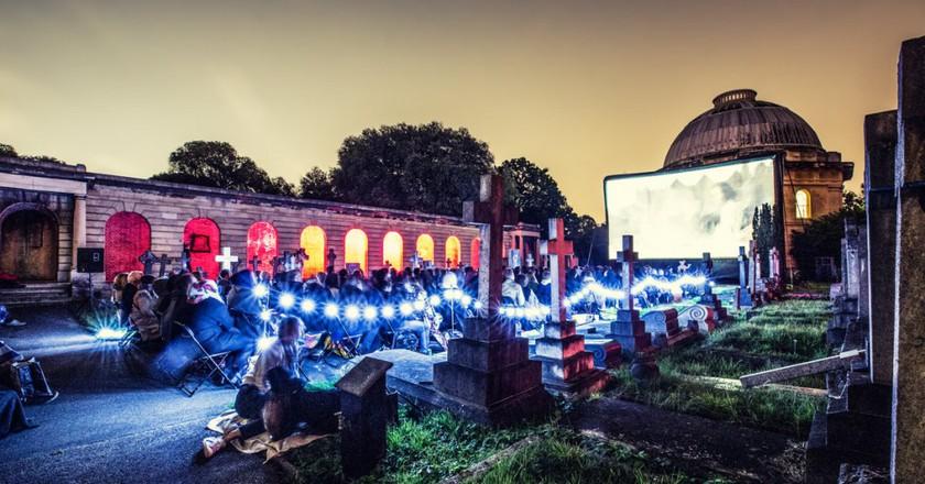 Nomad Cinema at Brompton Cemetery, 2015  © SarahGinn/Nomad Cinema