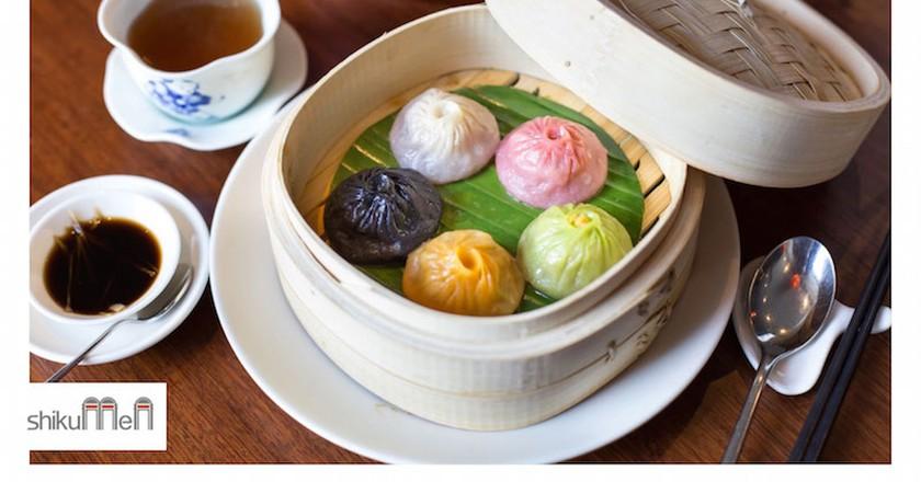 Shikumen are providing a new selection of coloured Xiao Long Bao (soup dumplings)  Courtesy of Shikumen/FourteenTen