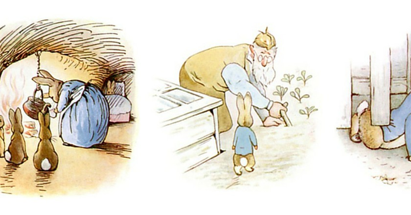 Illustrations from The Tale of Peter Rabbit | © The Gutenberg Project/WikiCommons