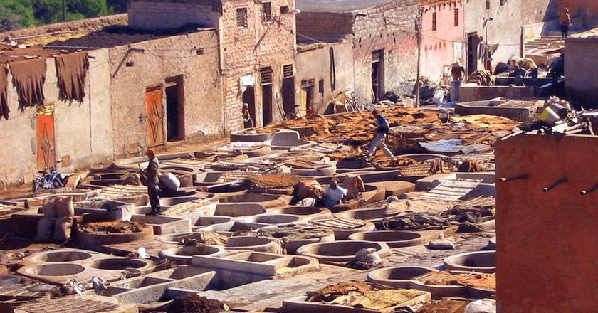 Marrakech tanneries ©Karderio / WikiCommons