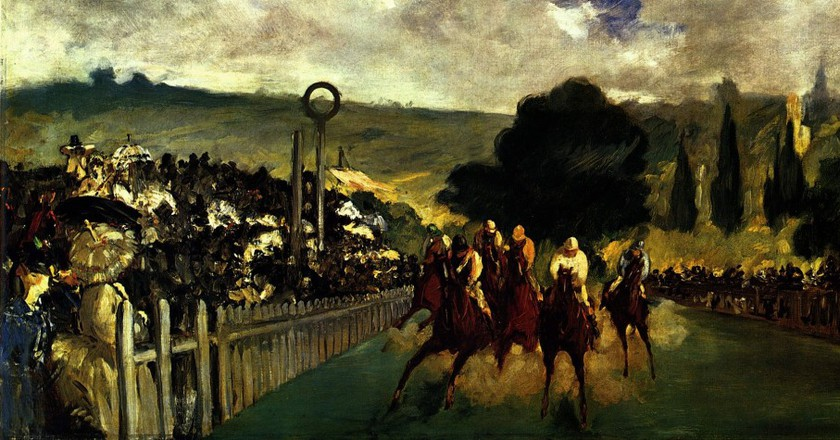 Édouard Manet's The Races at Longchamp © WikiCommons