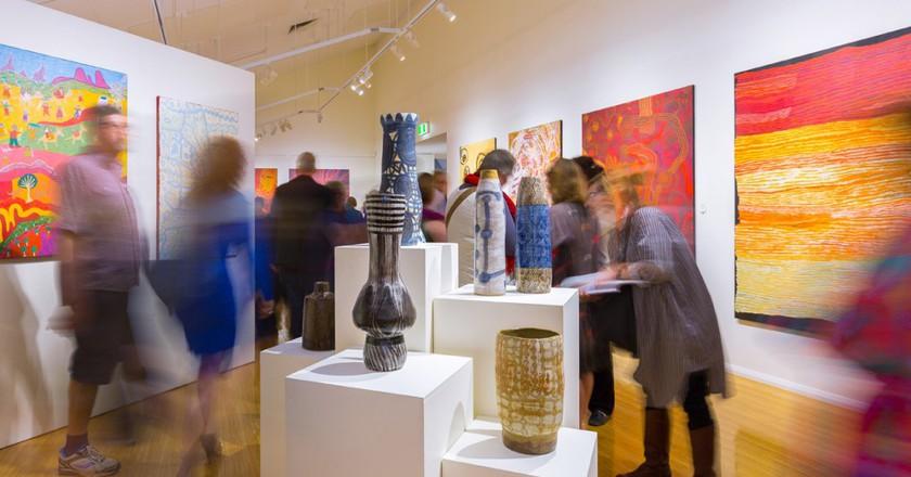 Opening night of Desert Mob 2015 exhibition   Courtesy Araluen Arts Centre © Lisa Hatzimihail