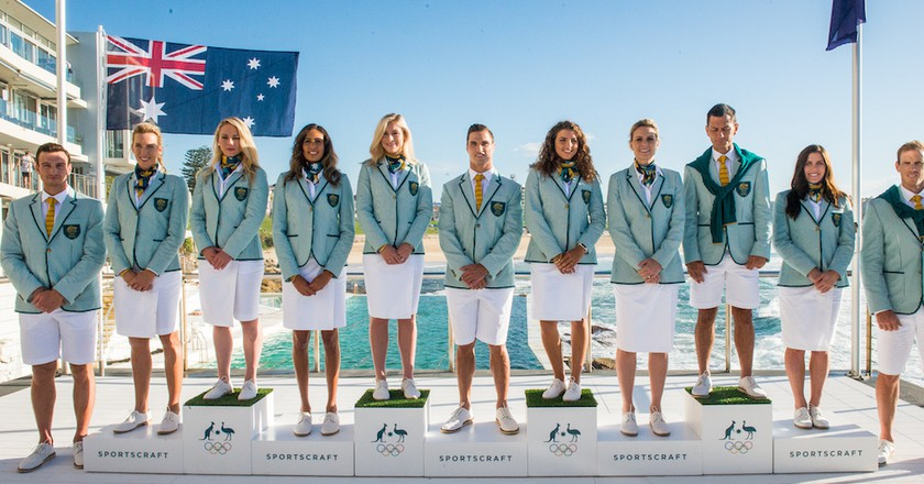 The Australian Olympic team uniform, 2016