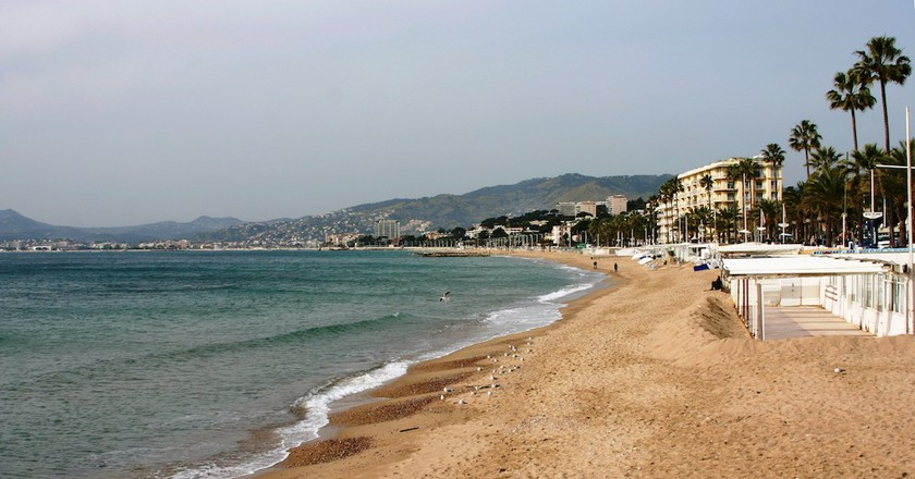 Beach in Cannes, one of the places at the centre of the Burkini controversy