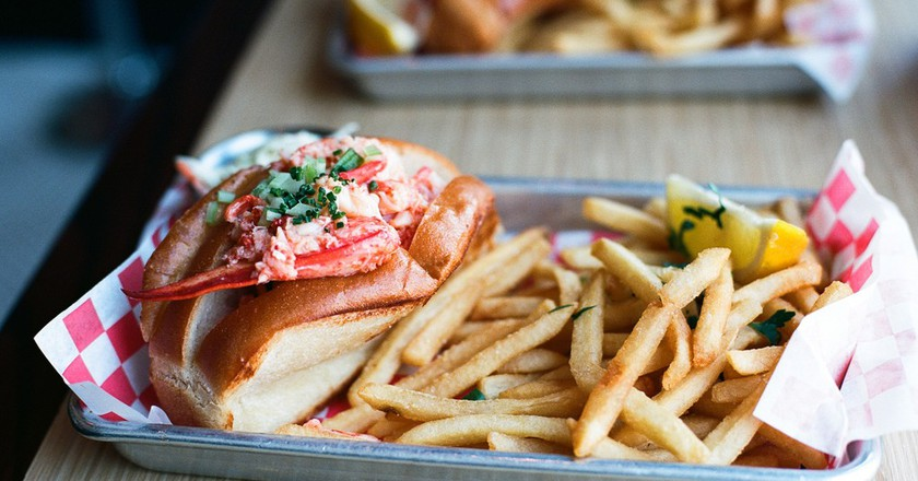 """A """"classic"""" New England lobster roll