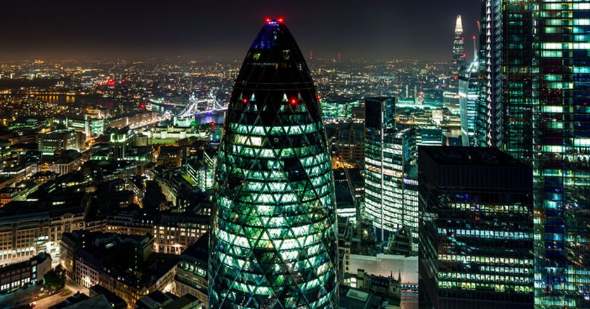 The view from Duck & Waffle Restaurant| Courtesy of Duck and Waffle