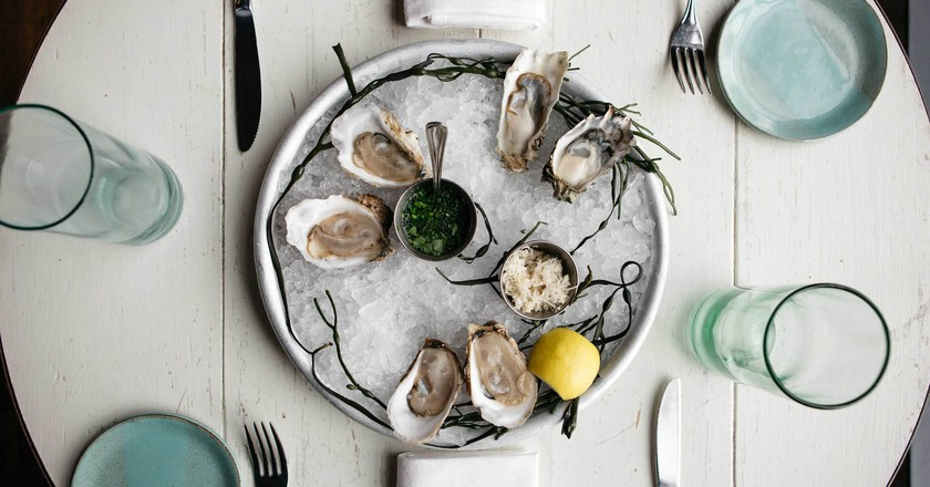 Fresh oysters at The Eatery at Beshoffs | Courtesy of Beshoffs The Market