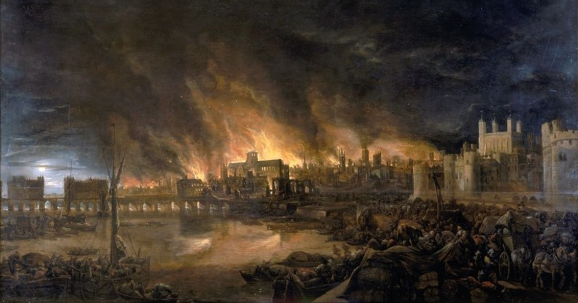 Great fire of London, painted in the 17th century| Unknown painter/Wikicommons