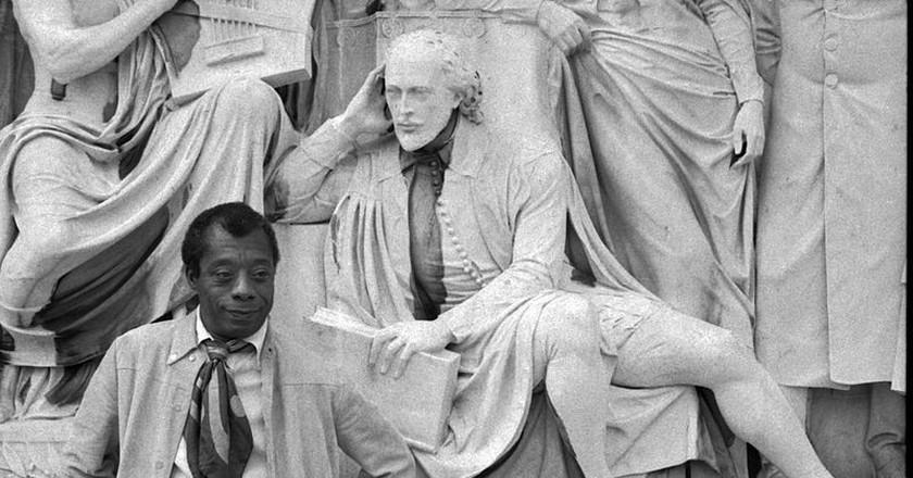 James Baldwin on the Albert Memorial   ©Allan Warren / Wikimedia Commons