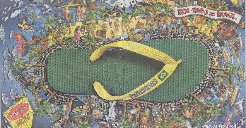 An advert for the iconic Havaianas