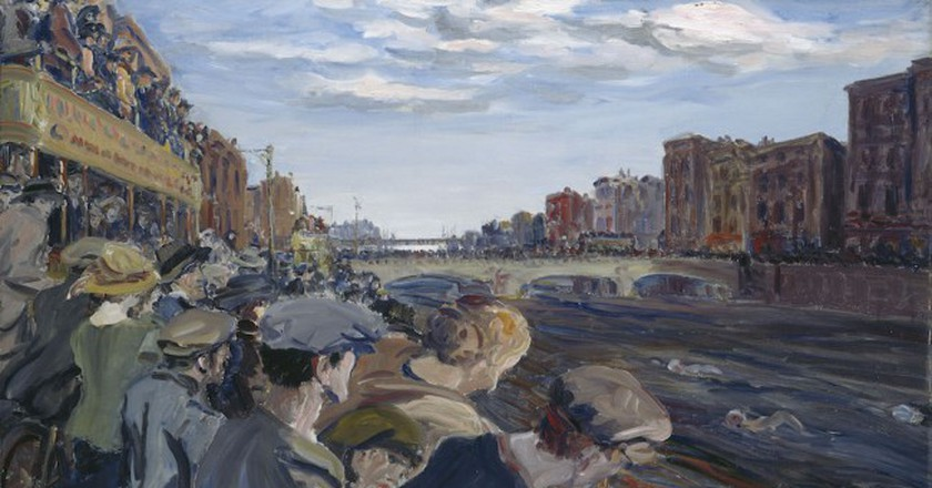 The Liffey Swim, 1923, by Jack B. Yeats | © National Gallery of Ireland