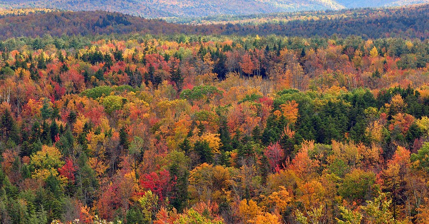 Fall foliage seen from Hogback Mountain, Wilmington | © chensiyuan/Wikicommons
