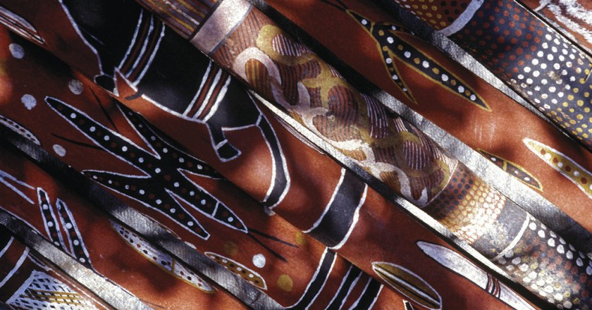 Didgeridoos, Barunga Festival, Barunga, NT | ©Paul Blackmore, courtesy of Tourism Australia