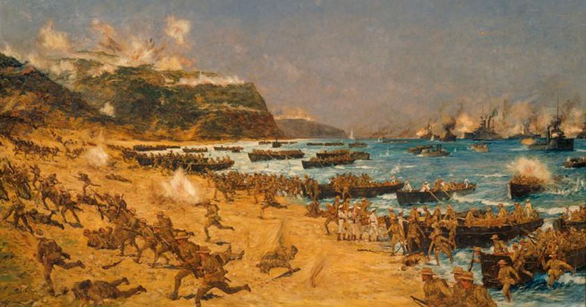 Anzac's landing at Gallipoli, World War I   ©Archives New Zealand / Flickr