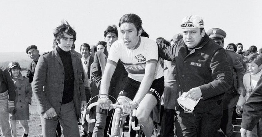 Eddy Merckx at the 1971 edition of Milan-San Remo, a classic which he would win a whopping 7 times in total | © ktk17028/Flickr