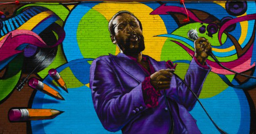 Marvin Gaye Mural On DC's U Street   © Johnny Silvercloud/Flickr