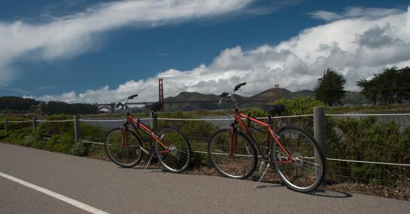 Bike trail overlooking the Golden Gate © Christian Haugen/Flickr