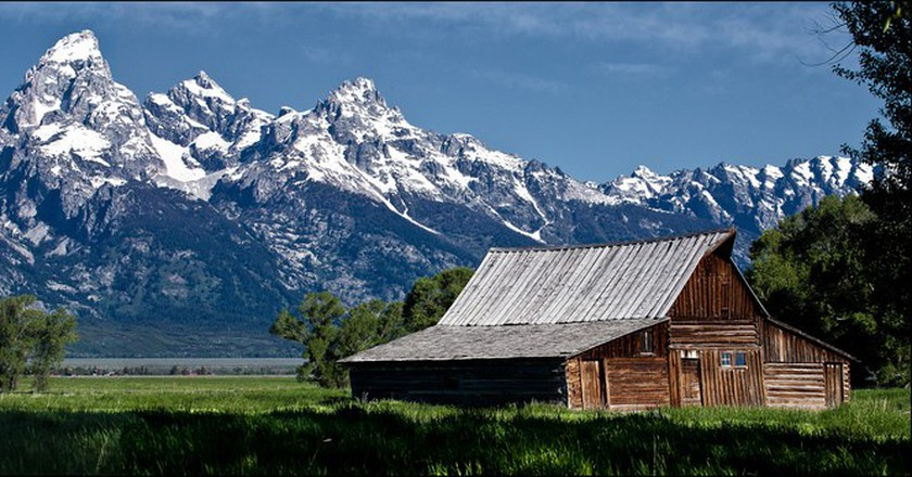 Barn, Mormon Row, Jackson Hole, Wyoming | © Allan Harris/Flickr