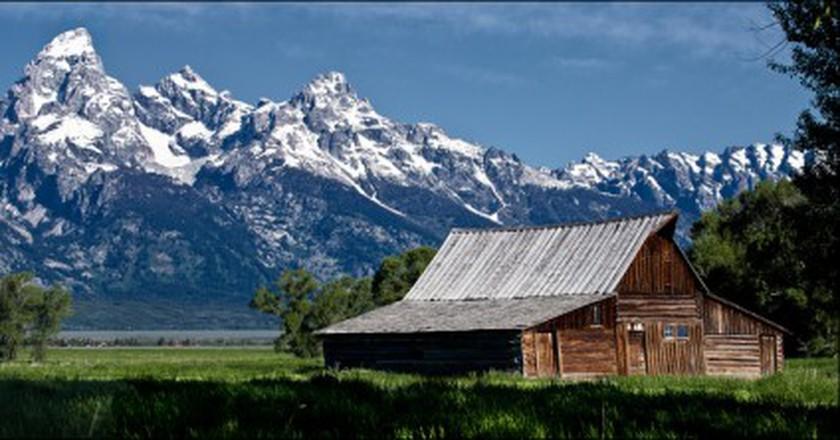 Barn, Mormon Row, Jackson Hole, Wyoming   © Allan Harris/Flickr