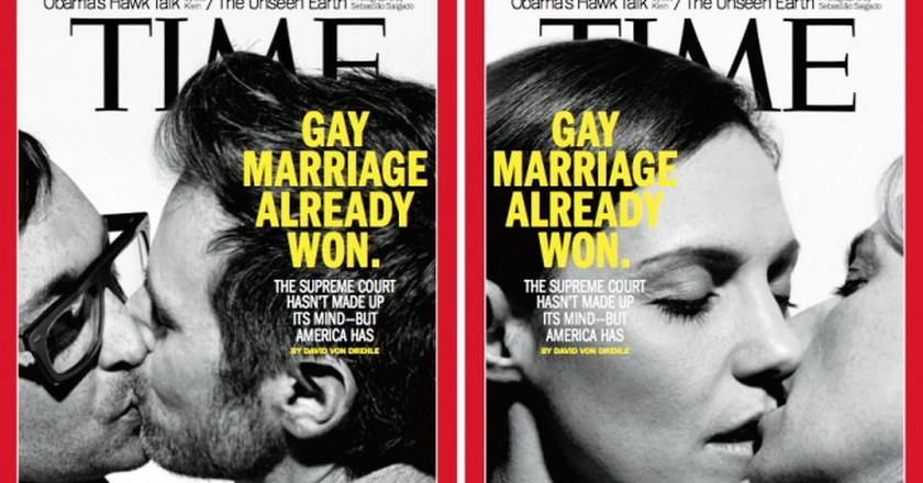 A 2013 Time magazine cover about gay marriage in the US | © Esther Vargas/Flickr