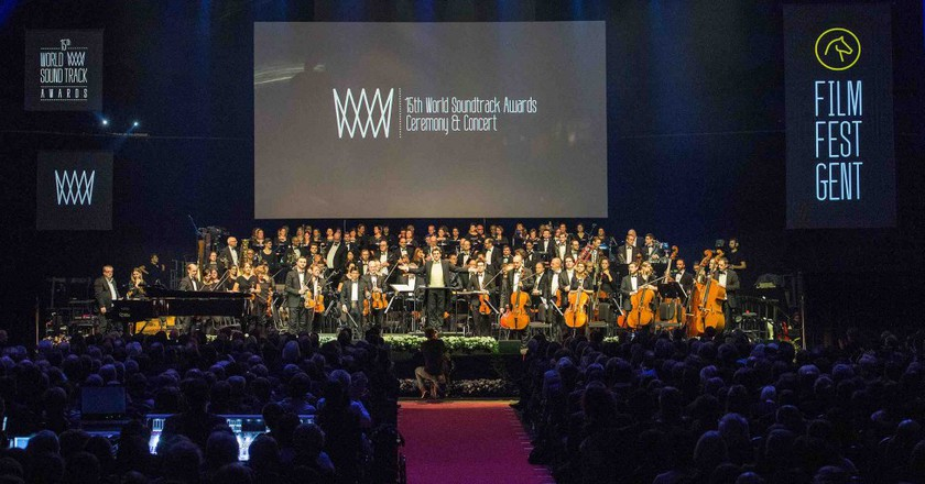The Brussels Philharmonic performing with guest of honor Alan Silvestri during the 2015 World Soundtrack Awards | ©World Soundtrack Awards