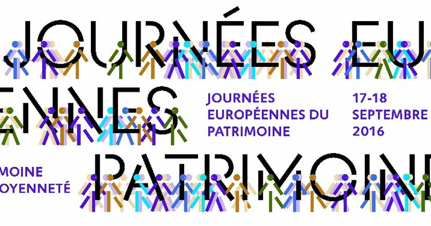 Campaign poster for Journées Européennes du Patrimoine 2016 │ Courtesy of European Heritage Days 2016