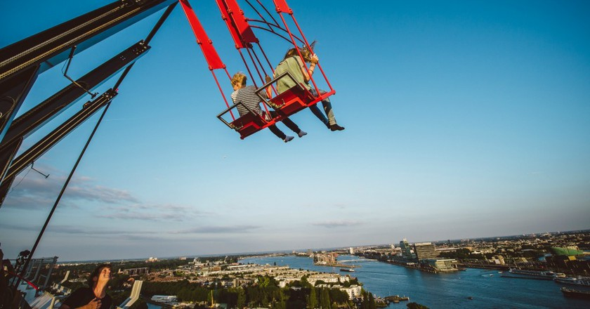 Over The Edge Swing, Europe's tallest swing | © Dennis Bouman