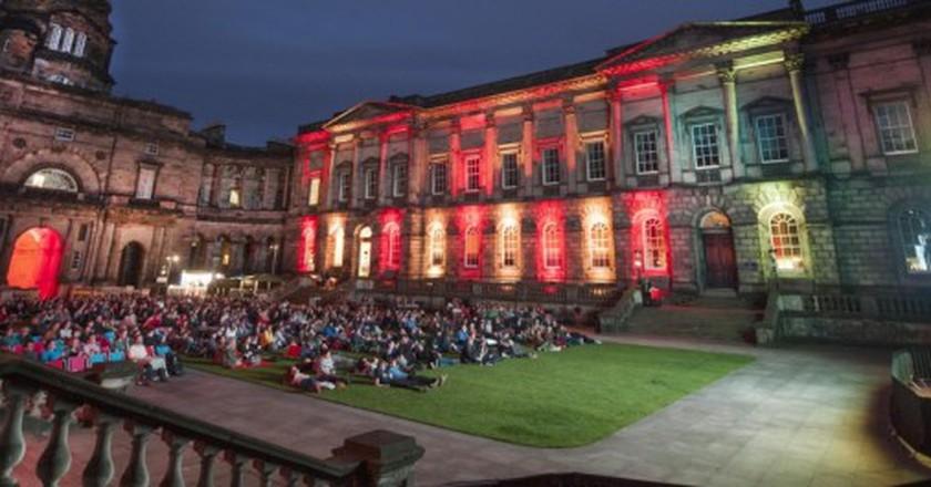 Film in the Old College Quad | Courtesy Of The University Of Edinburgh