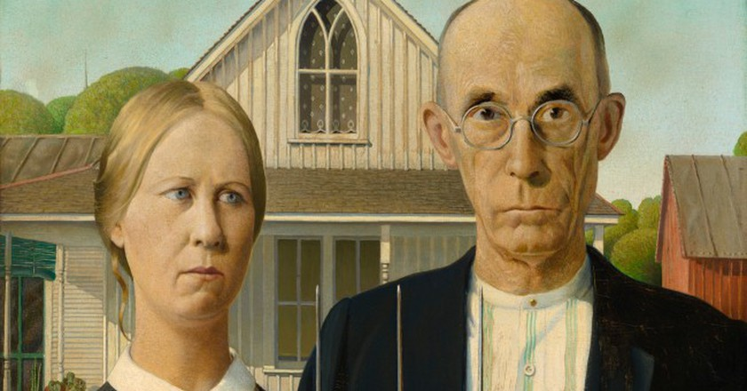 'American Gothic', 1930, by Grant Wood (1891-1942), Friends of American Art Collection 1930.934 |© The Art Institute of Chicago/Royal Academy