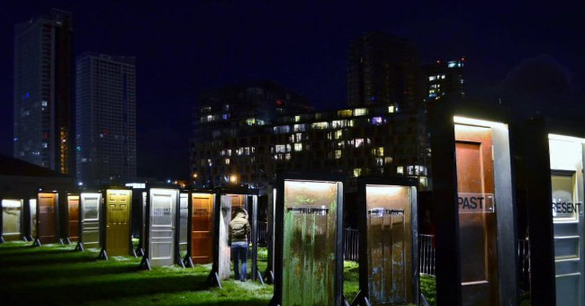 'Between Doors' by Labspace Studio is one of the curious artistic set-ups ready to take over Brussels the night of October 1st | © Labspace Studio/courtesy of Nuit Blanche