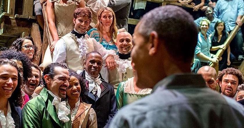President Obama meets the Hamilton Cast | Public Domain/WikiCommons