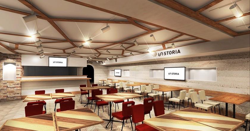 Interior of Square-Enix's new e-sports and gaming cafe, Storia | Courtesy of Square Enix/Storia
