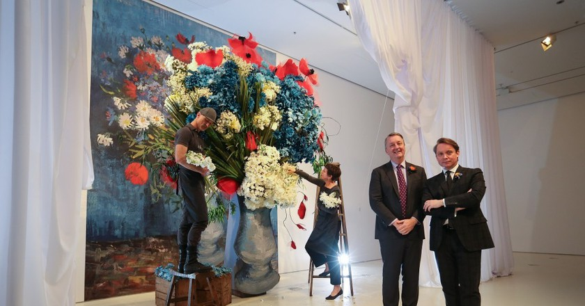 Media Announcement photos - Flowers Vasette installation from Elisabeth Alexander | Courtesy of NGV