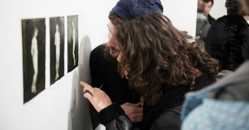 1n Gallery Opening Night at Stigter Van Doesburg, with work by Roman Wolgin, during Amsterdam Art Weekend 2015   © Fabian Landewee