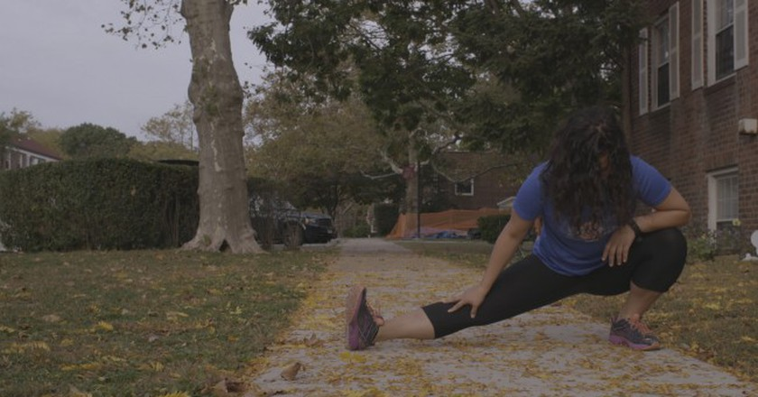 Aja Carter, 29, is running her first New York City Marathon on Nov. 6. | © Drew English