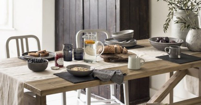 Getting together with family and friends over a hearty meal is at the heart of hygge – get the look with House of Fraser's Pebble dinnerware