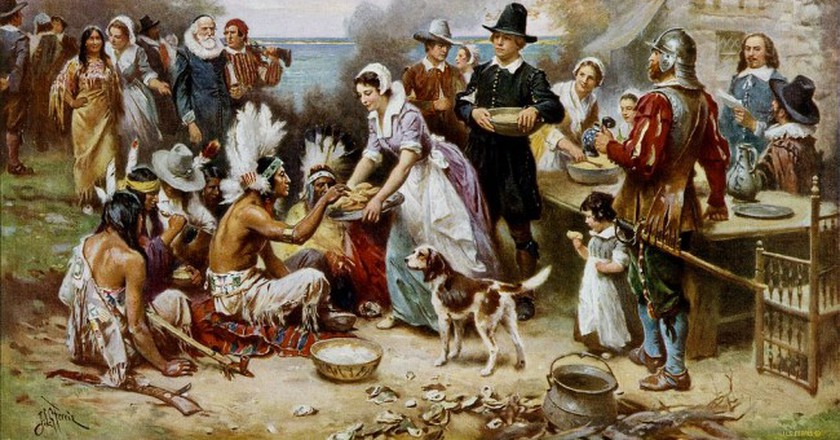 The First Thanksgiving | Public Domain/WikiCommons